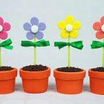 Cupcake maceta con flores de fondant