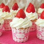 Cupcakes de fresas con nata