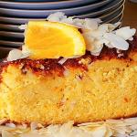 Pastel libanés de almendras y naranja